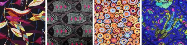 Collage of designer fabrics
